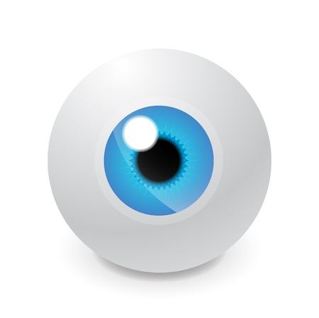 contact lens: Glass eyeball Illustration