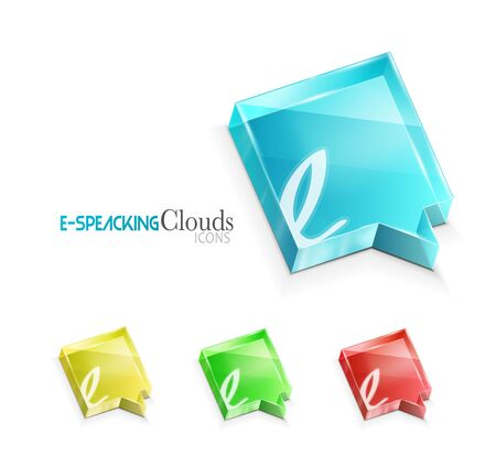 E-speaking conceptual icon Vector