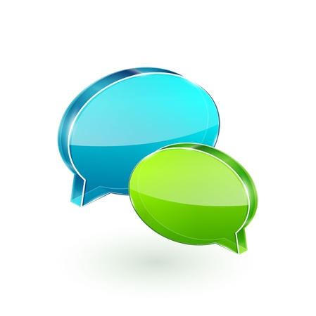discussion forum: 3d vector glass speech bubbles Illustration