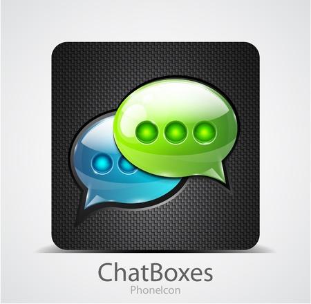 Vector chiacchierata scatole icona del telefono Vettoriali