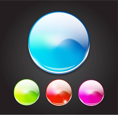 Color blurred buttons Vector