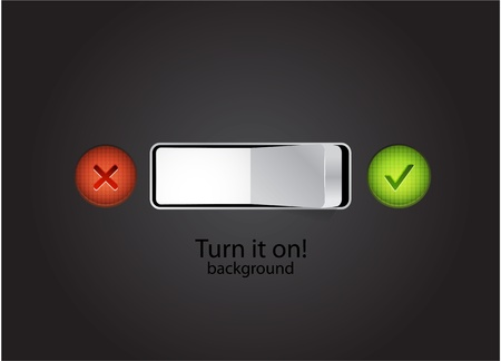 Turn on concept Stock Vector - 10550765