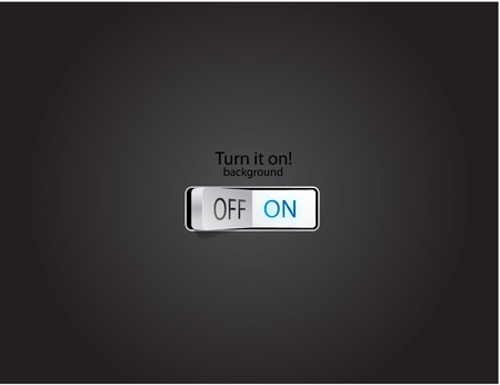 Turn on background Vector