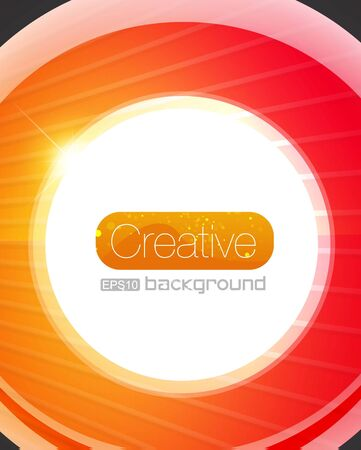 Bright glass circle vector background Vector