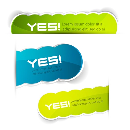 sticker: Vector color labels