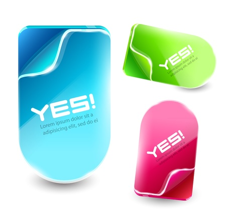 Vector color labels Vector