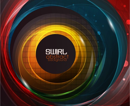 banner effect: Swirl vector abstract background