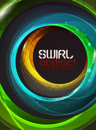 Swirl abstract background Stock Vector - 10683748
