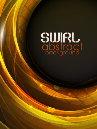 orange swirl: Swirl abstract background