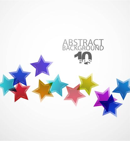 abstract background. Color stars Vector
