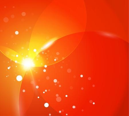오렌지: 오렌지 빛나는 추상적 인 배경 일러스트