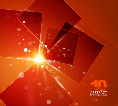 Orange shiny abstract background Vector
