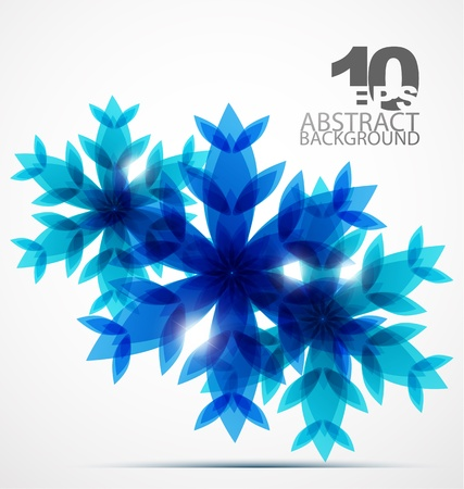 Christmas snowflake background Stock Vector - 10730360