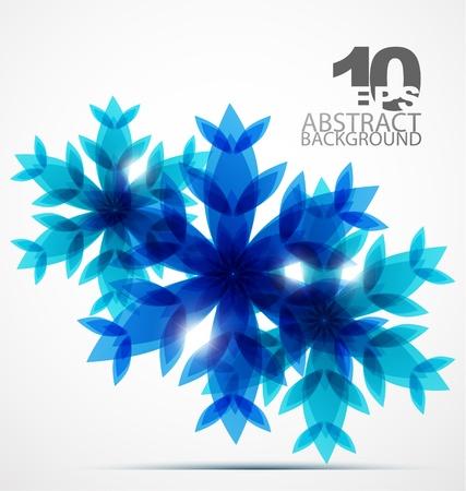 Christmas snowflake background Stock Vector - 10730360