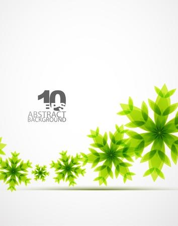 Green Christmas snowflakes Stock Photo - 10730352