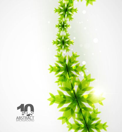 joyeux: Green Christmas concept Illustration