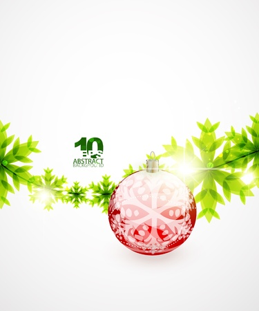 Green Christmas concept Vector