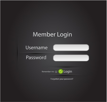 web site: Vector login page Illustration