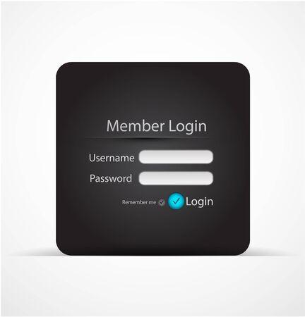 Vector login page Vector