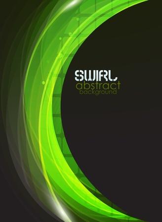 Green flow vector abstract background Vector