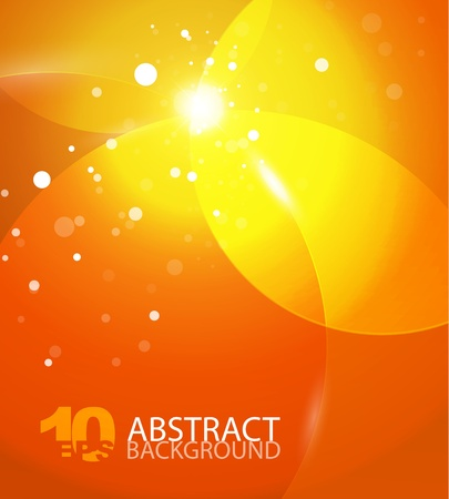 Abstract vector orange sky background Stock Vector - 10799548