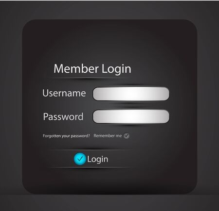 webtemplate: Vector login page Illustration