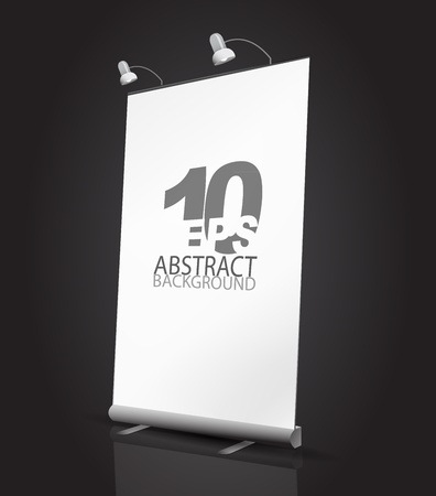 product display: Vector expanding banner stand Illustration