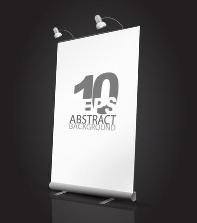 beursvloer: Vector uitbreiding banner staan Stock Illustratie