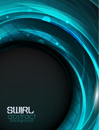 blue swirl: Blue swirl vector abstract background