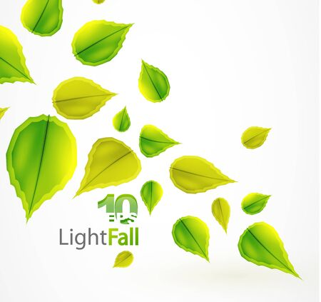 Fall abstract flying leaves background Vector