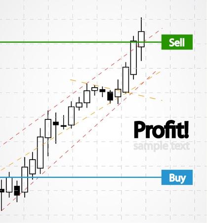 stock news: stocks background Illustration