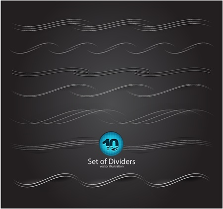 divider: web divider set Illustration