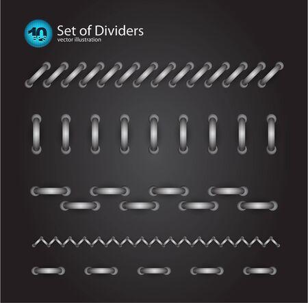 cord divider set Stock Vector - 10849367