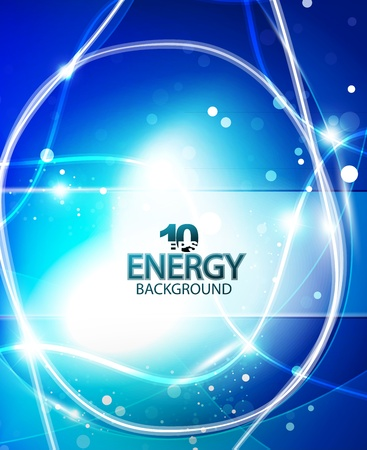 blue energy background Stock Vector - 11008461