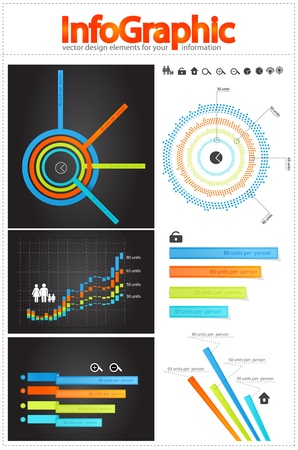 sales graph: Infographics elements Illustration
