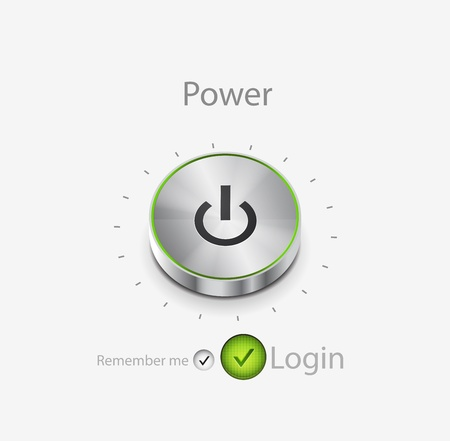 power button. Login page Stock Vector - 11008319