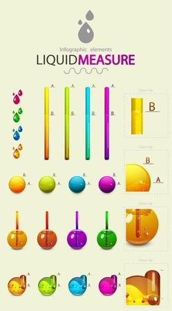 Infographic design elements. Liquid measure Vector