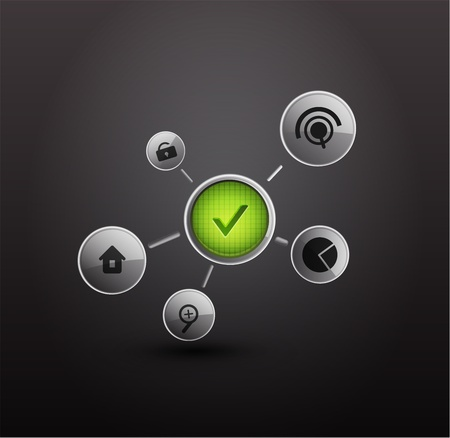 security bar: login background