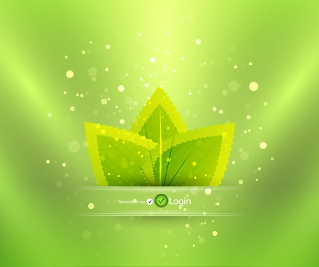 Nature login background Stock Vector - 11008472