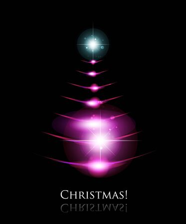 glowing christmas background Vector