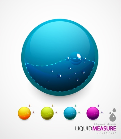 Liquid measure elements Stock Vector - 11073861