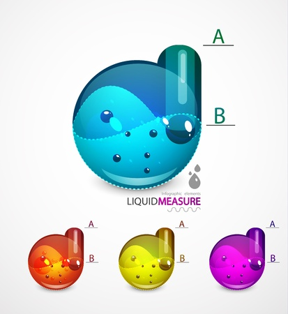 Liquid measure elements Stock Vector - 11073865