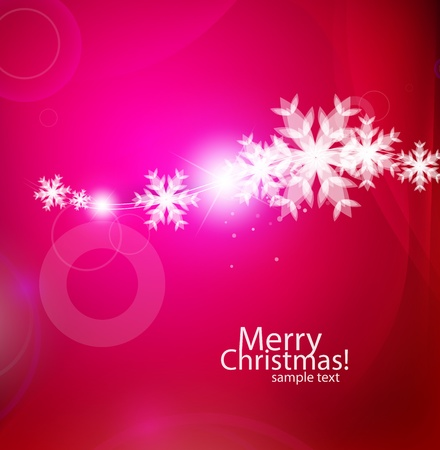 Vector violet Christmas card Vector