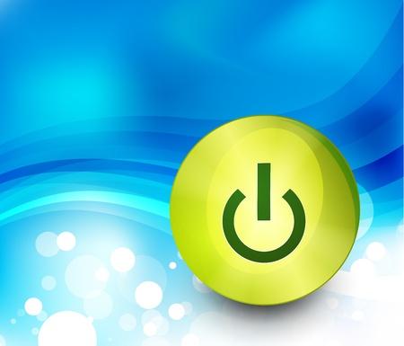 Technology power button background Vector
