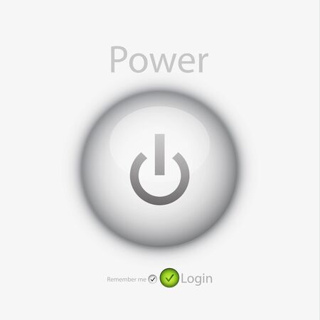 login page with power button Stock Photo - 11154536
