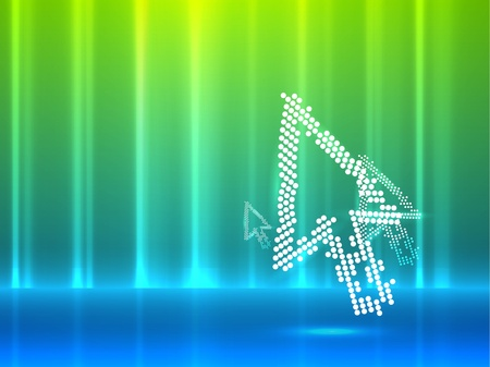 Mouse pointer abstract background Vector