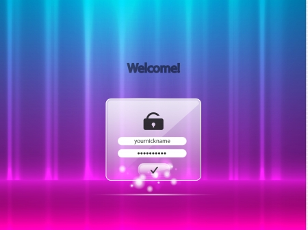 Vector login background Vector