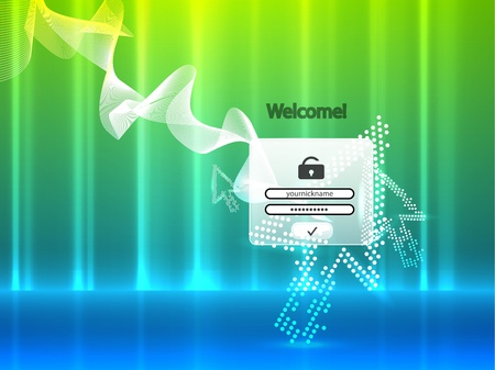 Abstract member login page Stock Photo