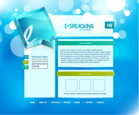 Blue web site template Vector