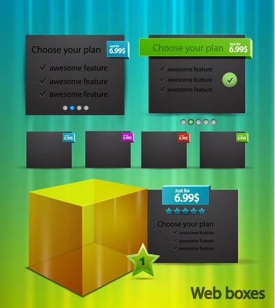 Web box templates Stock Vector - 11224729